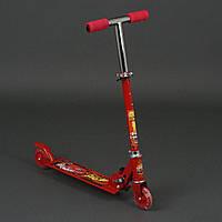 Самокат детский Тачки: 2 колеса PVC, свет, d-9.5см. Для детей 3, 4, 5, 6 лет. Цвет красный