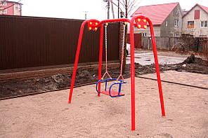Качели одинарные со спинкой на цепях ТЕ406М, фото 2