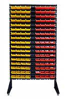 Стелаж для метизних контейнерів односторонній 1800мм 153 ящиків, фото 1