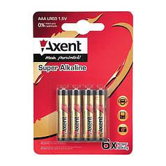 5556-А Елемент живлення AXENT АА LR6 1.5V, 4 шт.(лужний)