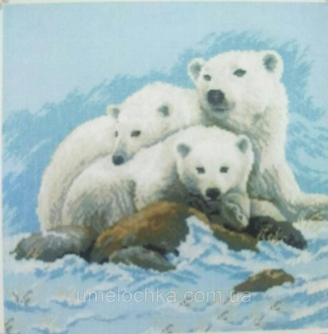 Набор для творчества со стразами Белые медведи Артикул: 198629 Размер: 25*25 см