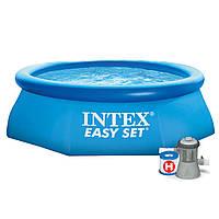 Бассейн наливной  Intex  28112 (56972)  244*76см + фильтр-насос ***