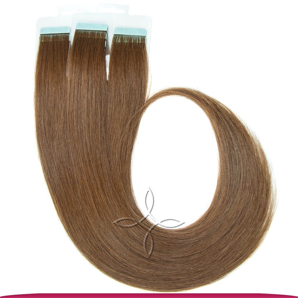 Натуральные Европейские Волосы на Лентах 50 см 100 грамм, Русый №06