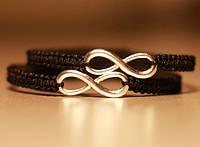 Парные браслеты оберег для влюбленных со знаком Бесконечность