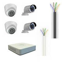 Комплект видеонаблюдения Dahua HD-CVI - 4104-2D/2F