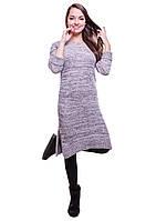 Женское платье из шерстяной ткани цвета  меланж
