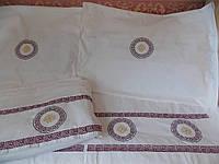 Постельное белье с вышивкой Белобог двуспальное евро Бязь Гост