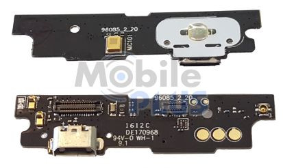 Роз'єм заряду Meizu M3 Note, M681Q на платі з мікрофоном, вібромотором