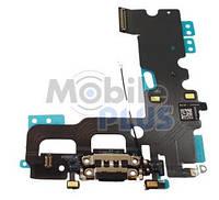 Шлейф с разъемом зарядки и наушников для Apple iPhone 7 Black