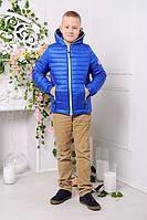 Демисезонная курточка для мальчика «Монклер-6» 116-146 рр