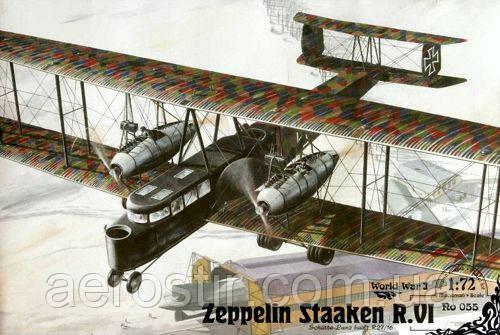 Zeppelin Staaken R.VI 1/72 RODEN 055