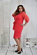Женское нарядное платье платье 0403 цвет коралл размер 42-74 / батал, фото 2