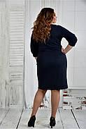 Женское нарядное платье платье 0403 цвет синий размер 42-74 / батал, фото 4
