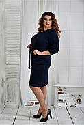 Женское нарядное платье платье 0403 цвет синий размер 42-74 / батал, фото 2