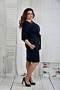 Женское нарядное платье платье 0403 цвет синий размер 42-74 / батал, фото 3