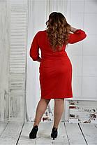Женское нарядное платье платье 0403 цвет красный размер 42-74 / батал, фото 3