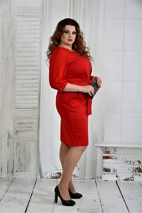 Женское нарядное платье платье 0403 цвет красный размер 42-74 / батал, фото 2