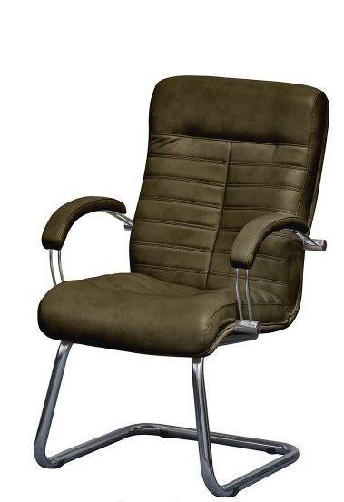 Кресло Орион CF Хром Мадрас оливковый.