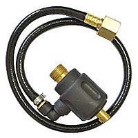 Переходник для аргоновой горелки, баенентный разъем 35-50 и резьба M16*15 (Длина газовой трубки 50 см)