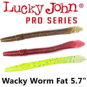 """Силикон Lucky John Pro Series WACKY WORM 5,7"""" (6шт)"""