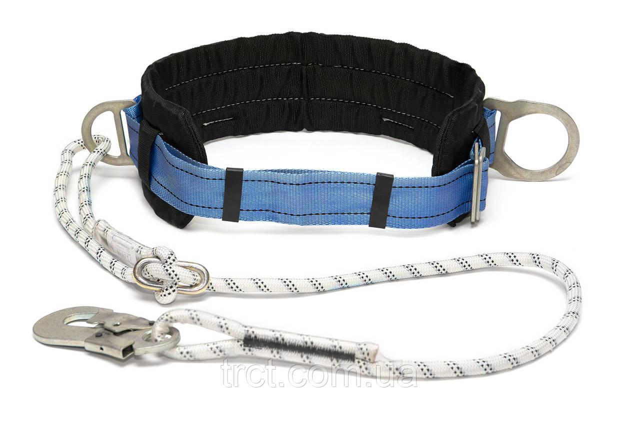 Пояс запобіжний безлямковий зі стропом з плетенного шнура (6ПБ)