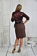 Женское платье платье 0402 цвет капучино размер 42-74, фото 4