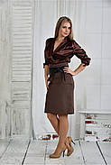 Женское платье платье 0402 цвет капучино размер 42-74, фото 3