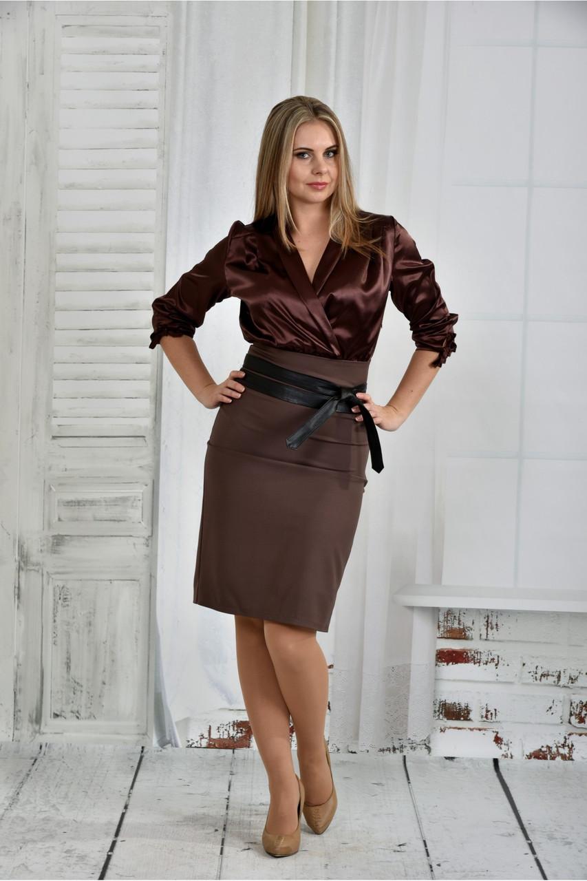 Женское платье платье 0402 цвет капучино размер 42-74