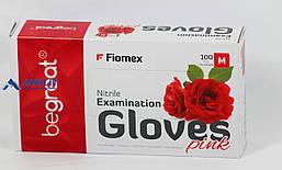 Перчатки Нитриловые розовые (Begreat, Fiomex), 50пар/упак.