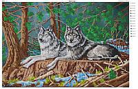 """Схема для вышивки бисером А2 """"Пара волков"""""""