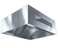 Зонт приточно - вытяжной пристенный прямоугольный   450x700x1600 нерж