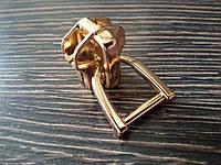 Бегунок №10 Италия для металлической молнии №39 золото