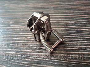 Бегунок №10 Италия для металлической молнии №39 никель