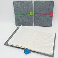 "Блокнот на резинке ""Войлок"" клетка, 13,5x18см, 80л, желт.бум., mix3"