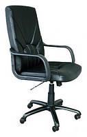 Кресло Менеджер ПМК кожа сплит черная