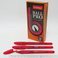 Ручка масляная Goldex Ball pro #1201 Индия Red 0,7мм с грипом