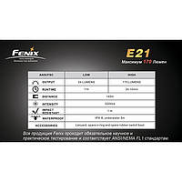 Фонарь Fenix E21 Cree XP-E, фото 1