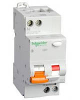 Дифавтомат Schneider Electric АД63К 1П+Н 20A 30MA C 18мм