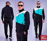 Мужской спортивный костюм плащевка на трикотаже