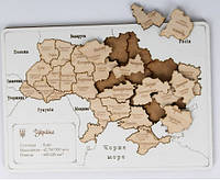 Карта Украины ручная работа из дерева