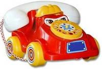Детская на веревочке Каталка Телефон средний