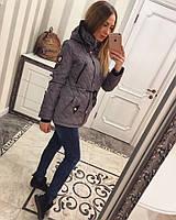 Куртка-парка с капюшоном стежка