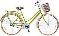 "Велосипед 28"" Dorozhnik COMFORT FEMALE 14G планет. St с багажн. салатный (м) 2016"