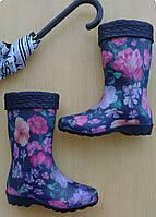 Резиновые сапожки Стиль Цветы