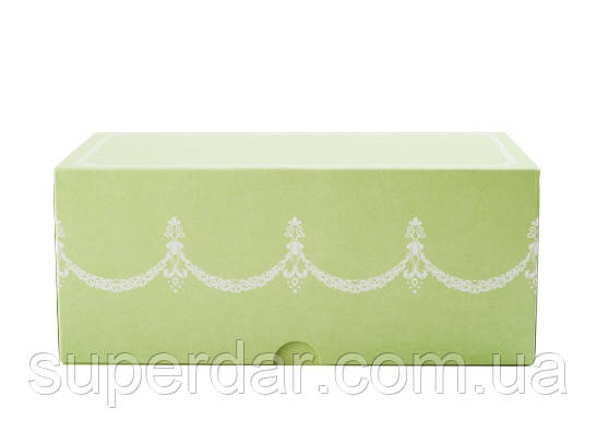 Коробка для кусочков торта, пирожных и др. изделий 200Х110х85 мм., салатовая