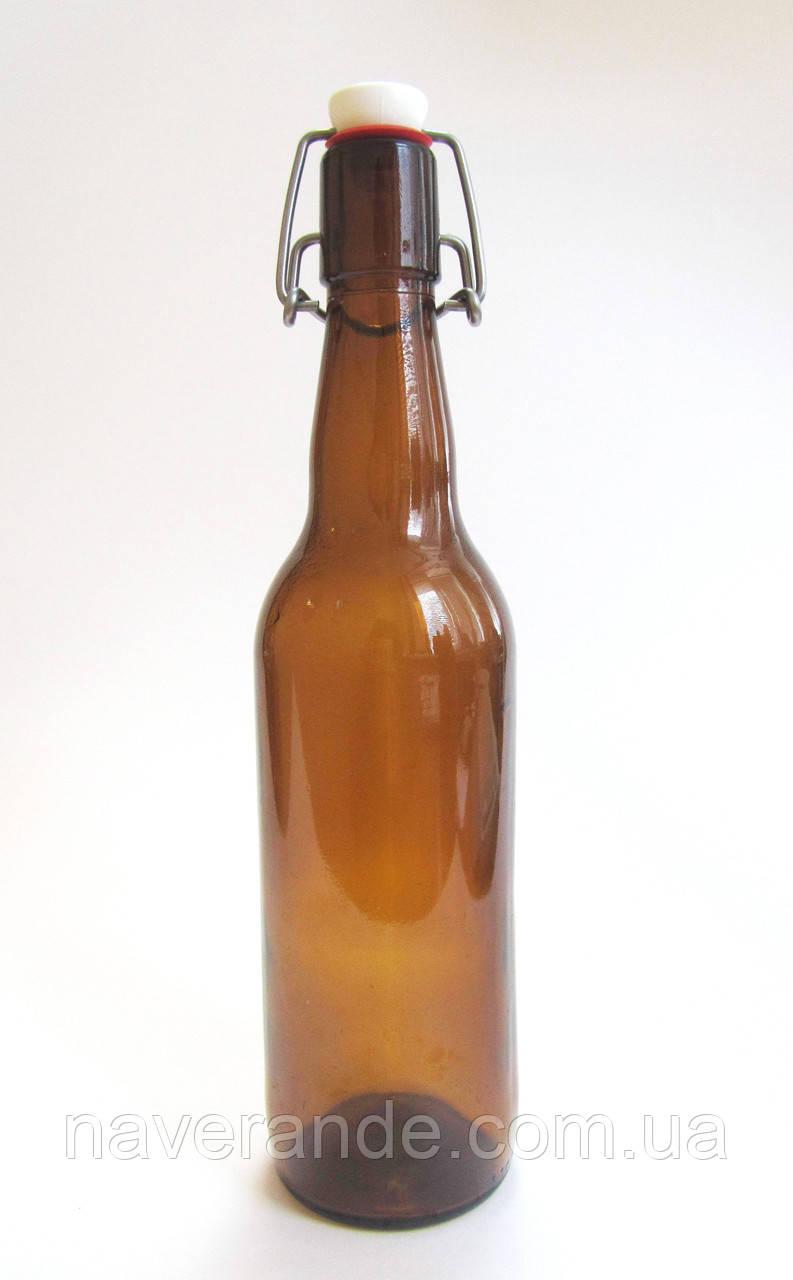 Бугельная бутылка 0,5л*6шт (темное стекло)