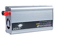 Инвертор (12V-220V) 2000W+USB (Doxin/TBE)