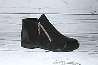 Ботинки женские демисезонные, цвет черный
