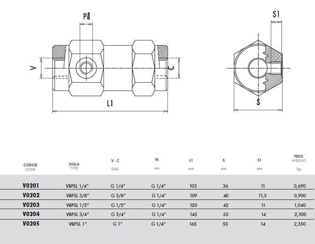 Схема 3х линейного гидрозамка (Управляемый обратный клапан)