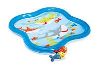 Бассейн детский Intex 57126 с фонтанчиком 140*140*11 см ***